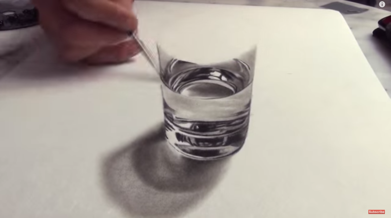 1279x714 This 3d Drawing Of A Glass Of Water Will Blow Your Mind W View