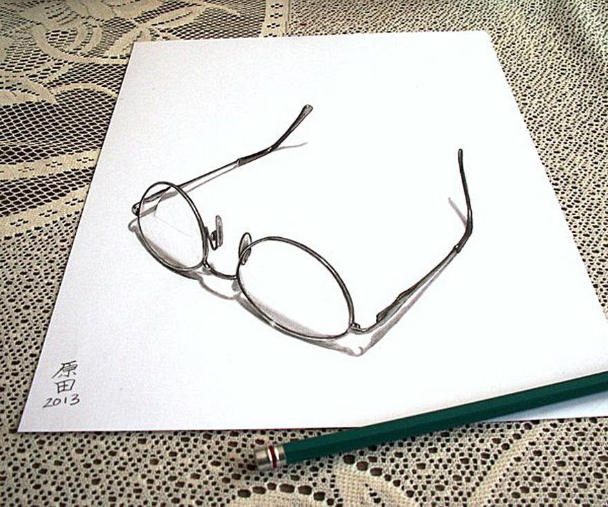 880x733 Glass 3d Pencil Drawing