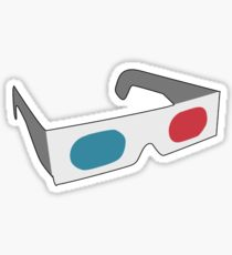 210x230 3d Glasses Drawing Stickers Redbubble