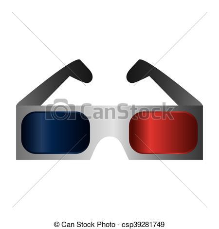 450x470 Flat Design 3d Glasses Icon Vector Illustration Eps Vector