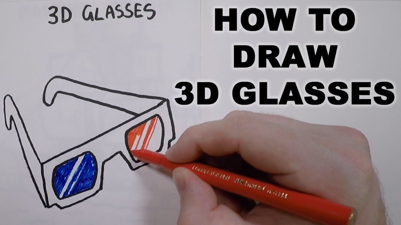 1280x720 How To Draw 3d Glasses
