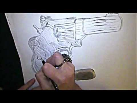 480x360 How To Draw A Gun In 3d !!! By~ Madonna