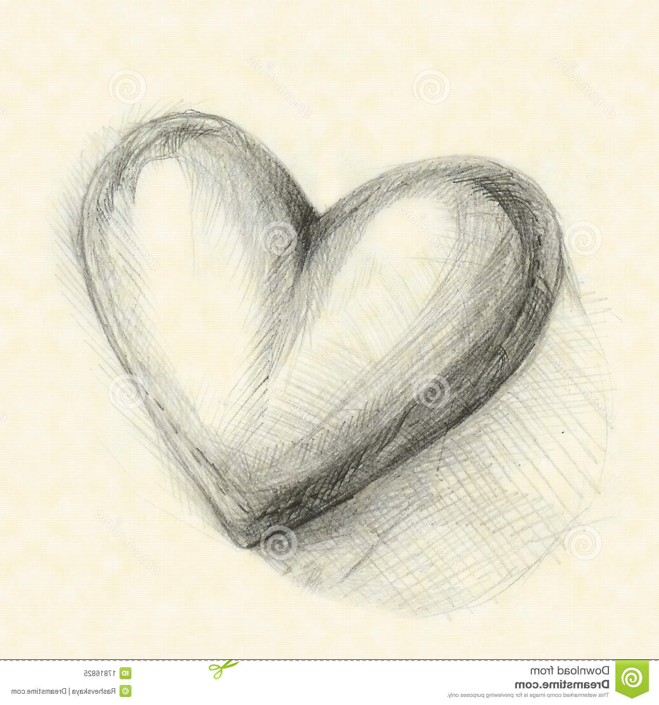 1300x1390 Photos 3d Heart Drawing,
