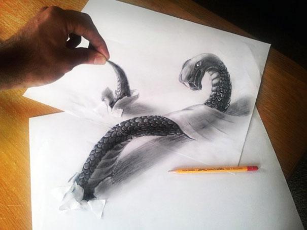 605x454 3d Pencil Drawings By Ramon Bruin Bored Panda