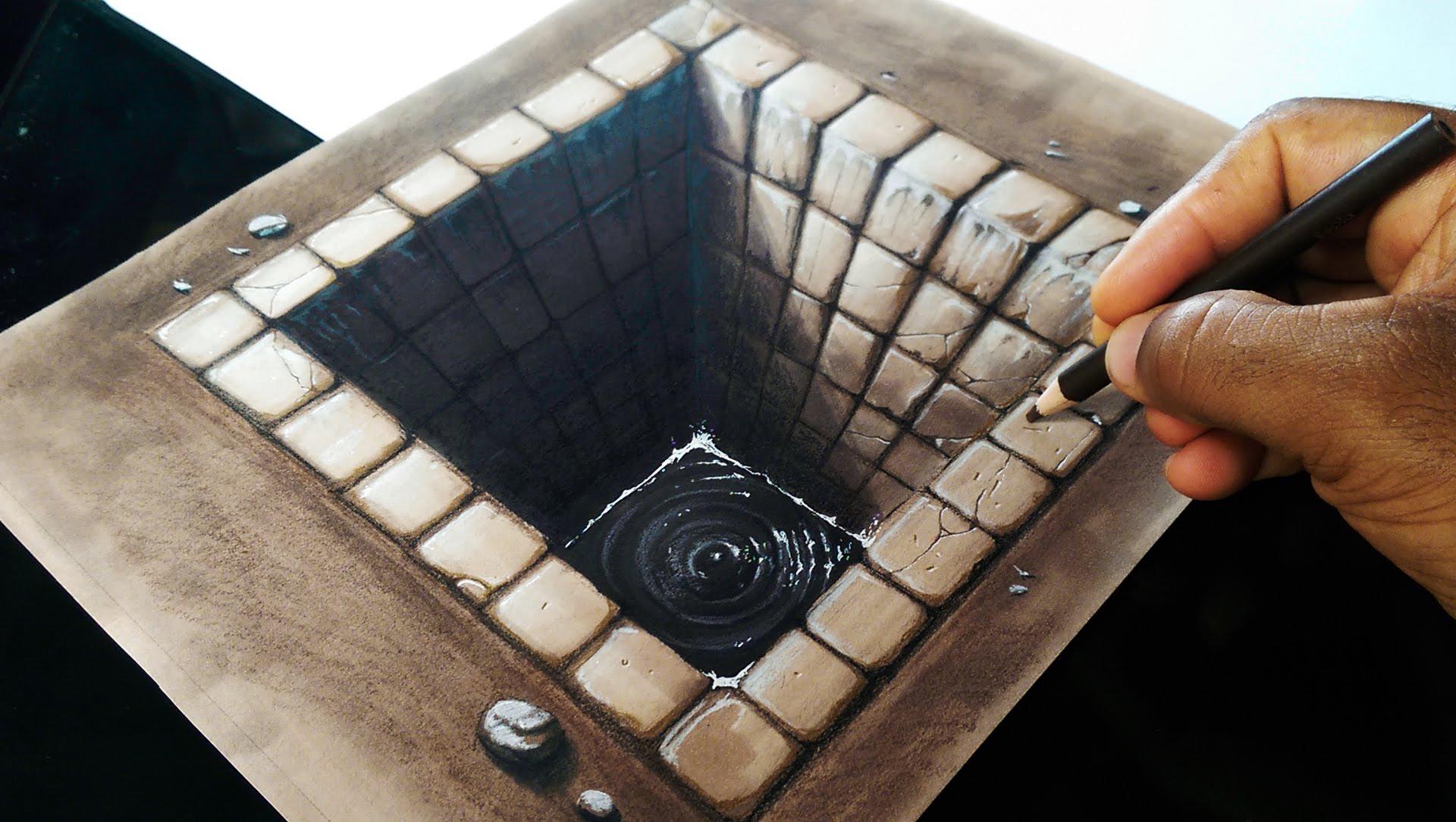 1920x1085 Drawing A Brick Hole