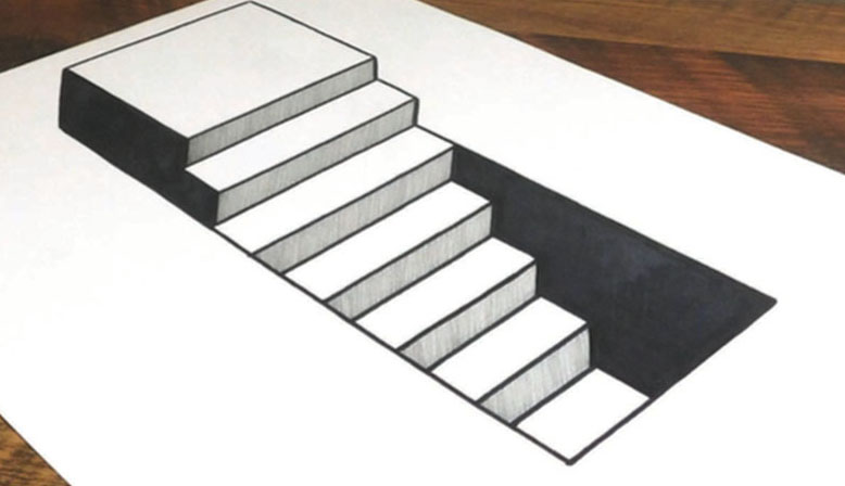 778x448 How To Draw 3d Steps