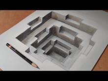 220x165 How To Draw 3d And Optical Illusions Step By Step Drawings Ideas