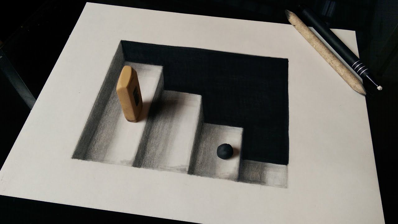 1280x720 How To Draw 3d Stairs With Pencils Or Markers.i Hope You Like It