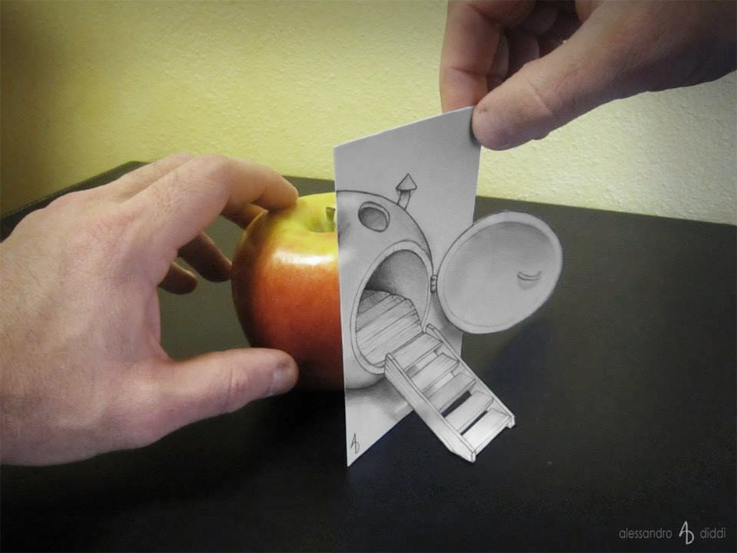 1500x1125 New! 3d Illusion Drawings By Alessandro Diddi Illusion Drawings