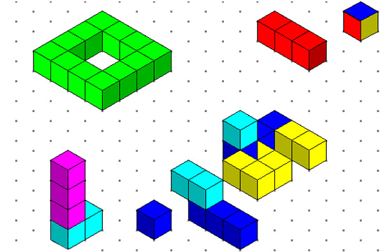 550x360 Isometric Drawing And 3d Cubes Passy's World Of Mathematics