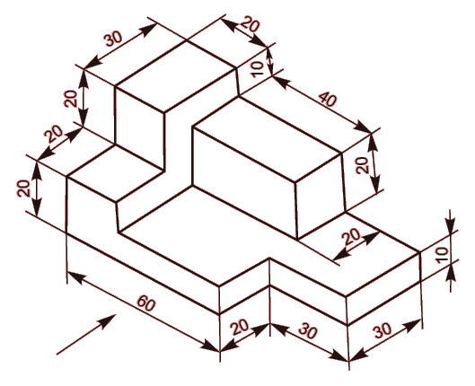 529x430 Orthographic Exercise Cad Drawing Practice Isometric Drawings