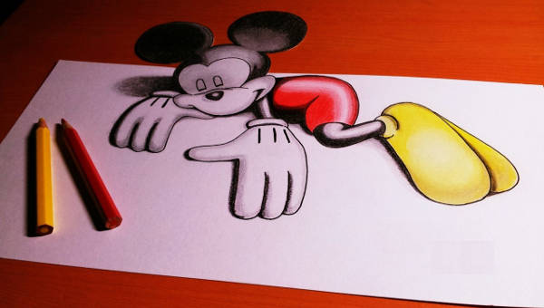 600x340 Mickey Mouse Drawings