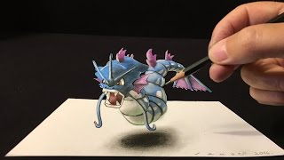 320x180 Download Drawing A 3d Mewtwo, Pokemon Go Anamorphic Illusion