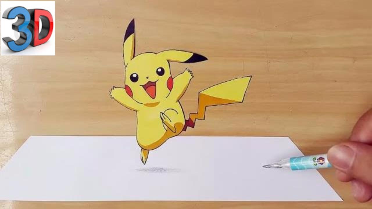 1280x720 How To Draw Pikachu Pokemon 3d