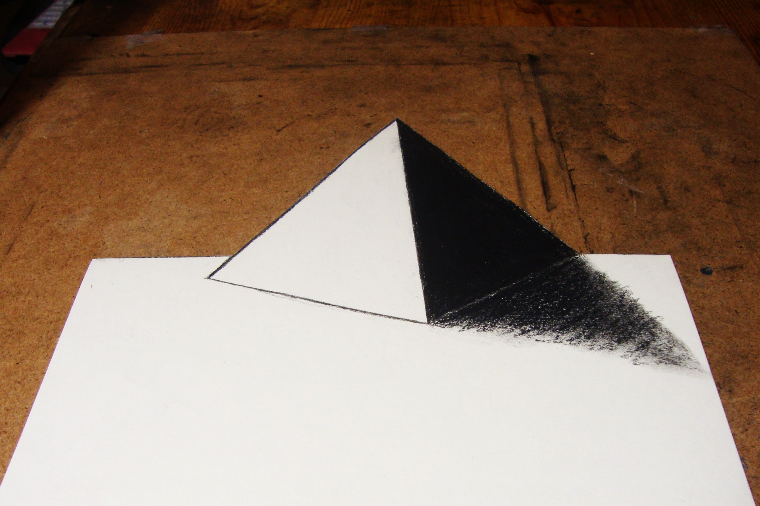 3d Drawing On Lined Paper : D pyramid drawing at getdrawings free for personal use