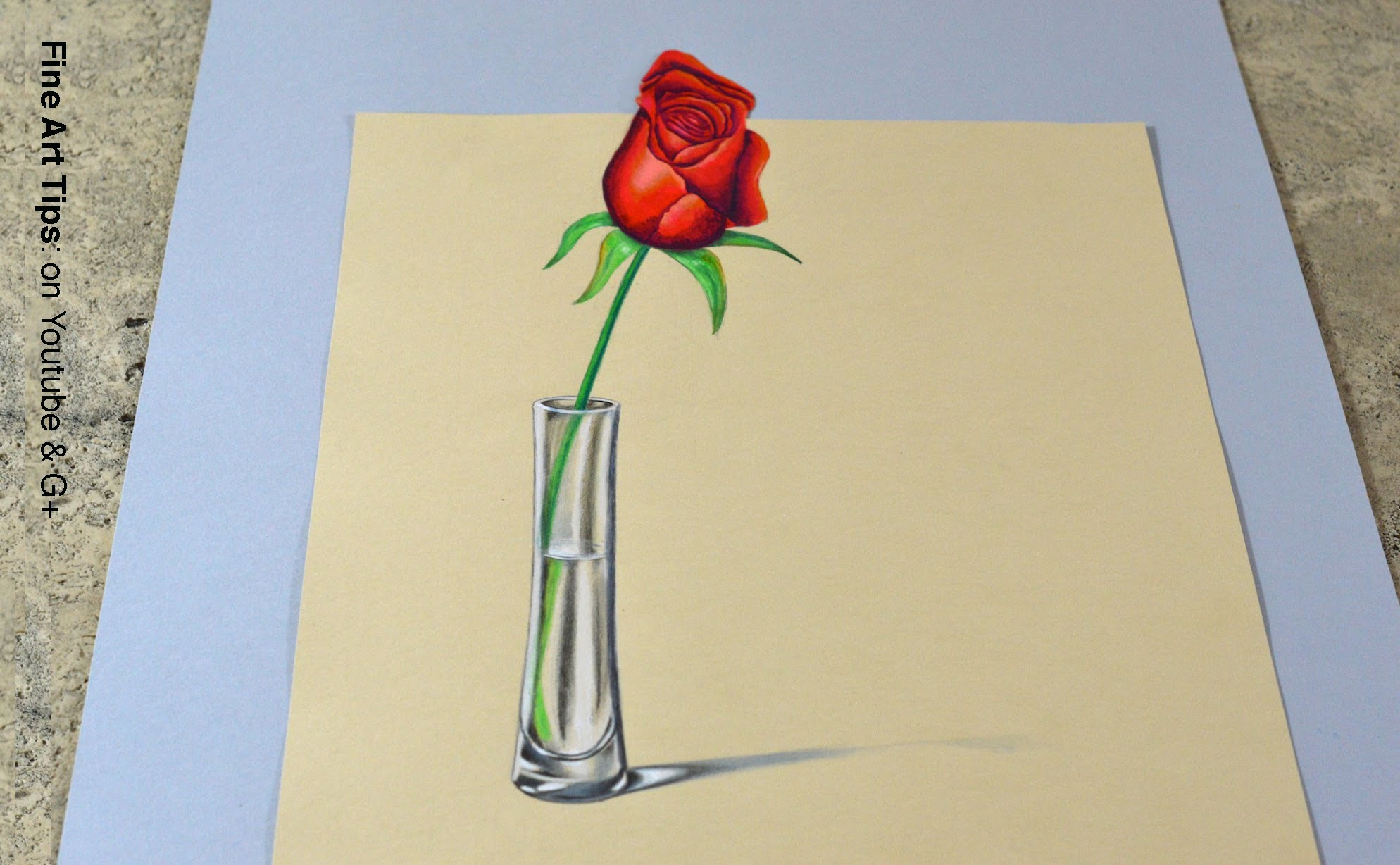 1988x1228 How To Draw 3d Rose How To Draw 3d Rose Stepstep 3d Rose Drawing