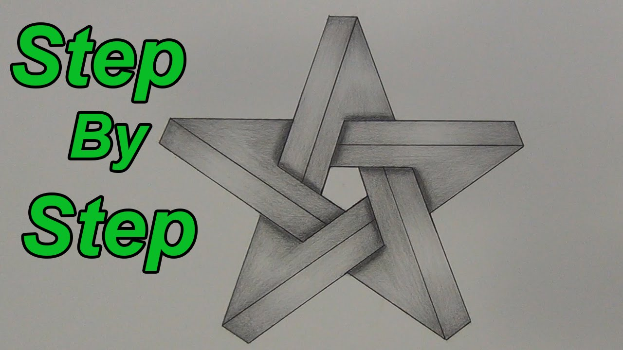1280x720 How To Draw An Impossible Star Step By Step