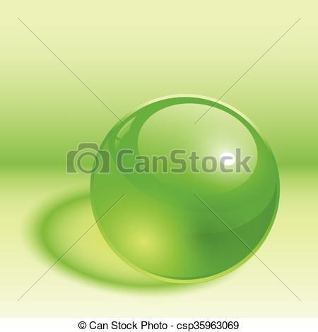 450x470 3d Sphere Green 3d Sphere, Green Transparent Ball. Clip Art