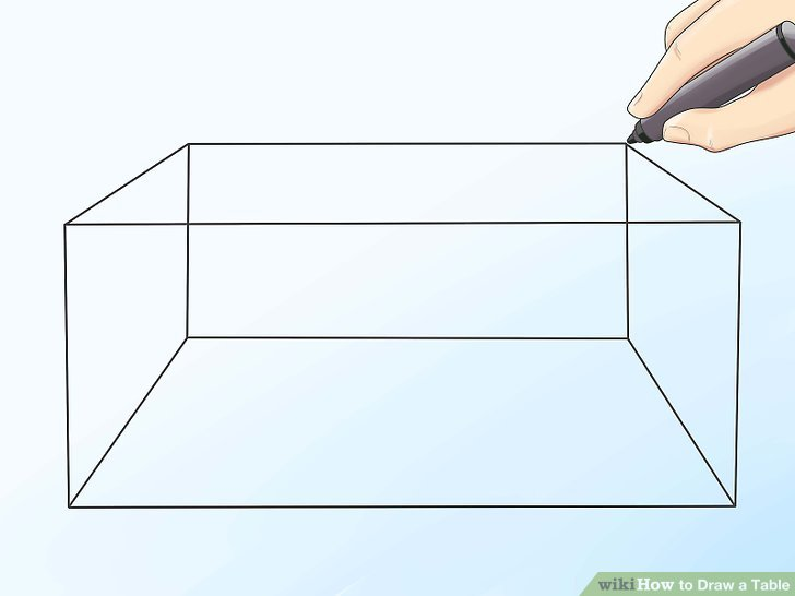 728x546 2 Easy Ways To Draw A Table (With Pictures)