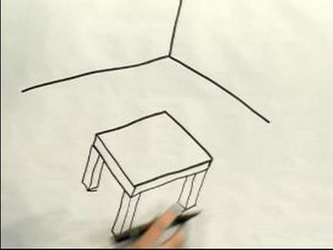480x360 Easy Cartoon Drawing How To Draw A 3d Cartoon Table