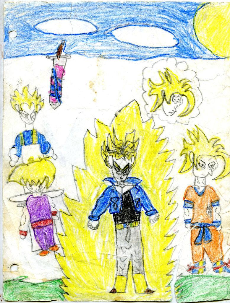 778x1026 Saiyans 3rd Grade Drawing By Knadio