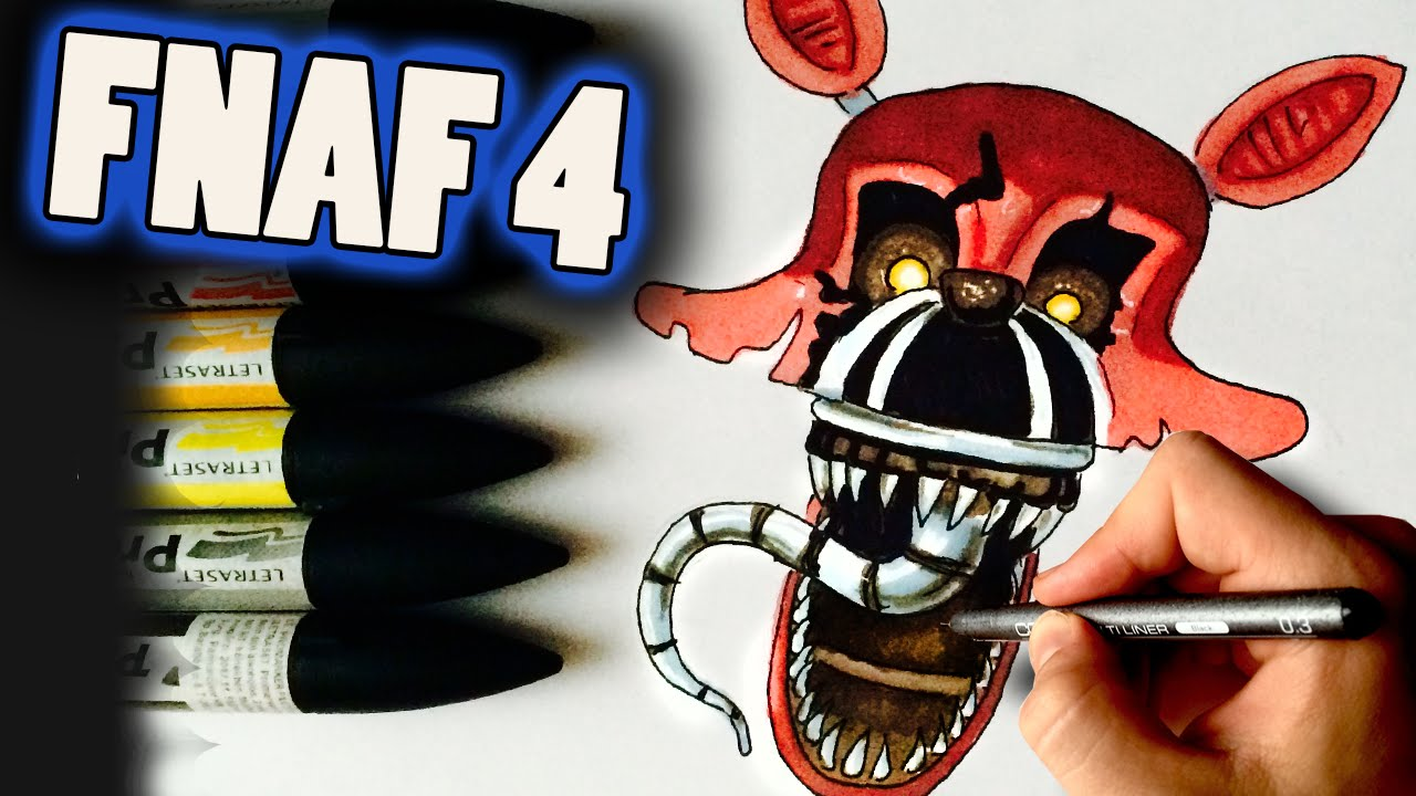 1280x720 How To Draw Nightmare Foxy From Fnaf 4 Step By Step Drawing Lesson