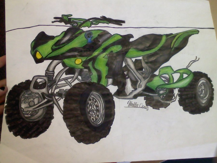 900x675 Four Wheeler Drawing By Hallie1440