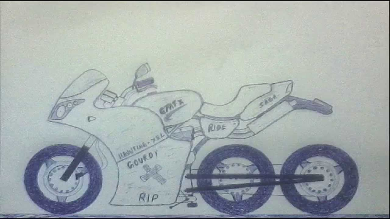 1280x720 Motorcycle Drawings