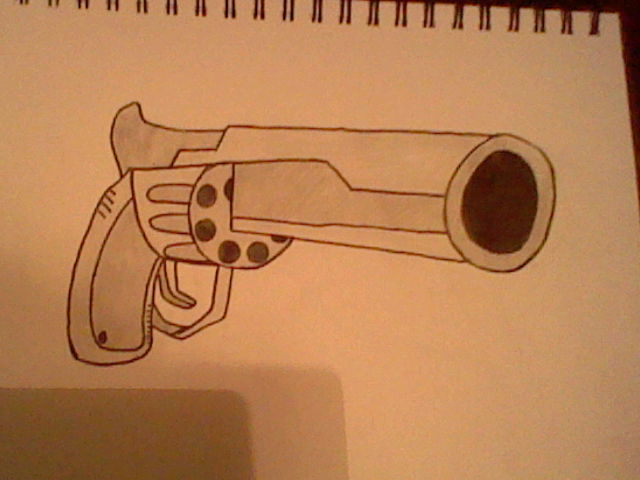 640x480 44 Magnum Drawing By Arianamoonlight