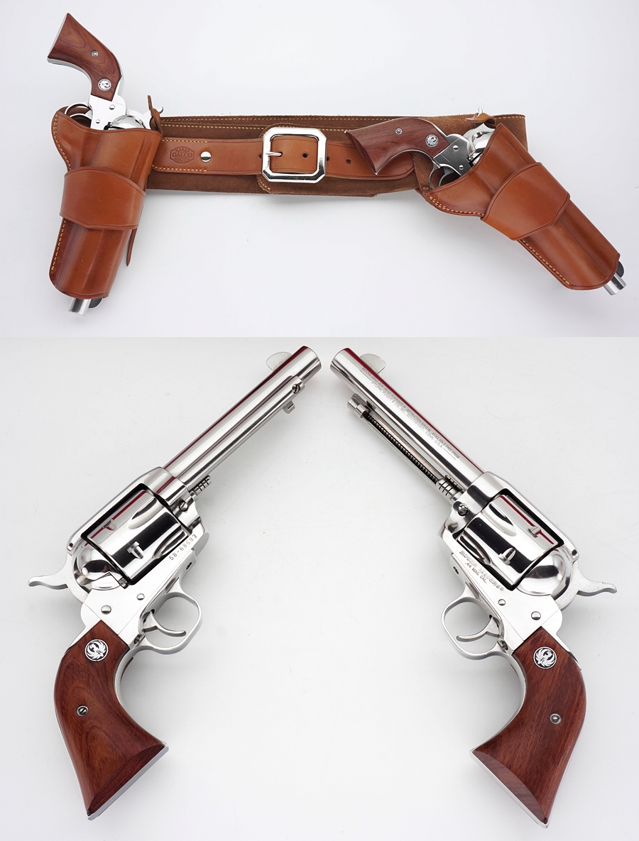 900x1185 Pistols (Ruger Vaquero 44 Mag. And Holster Rig Featuring A Hip