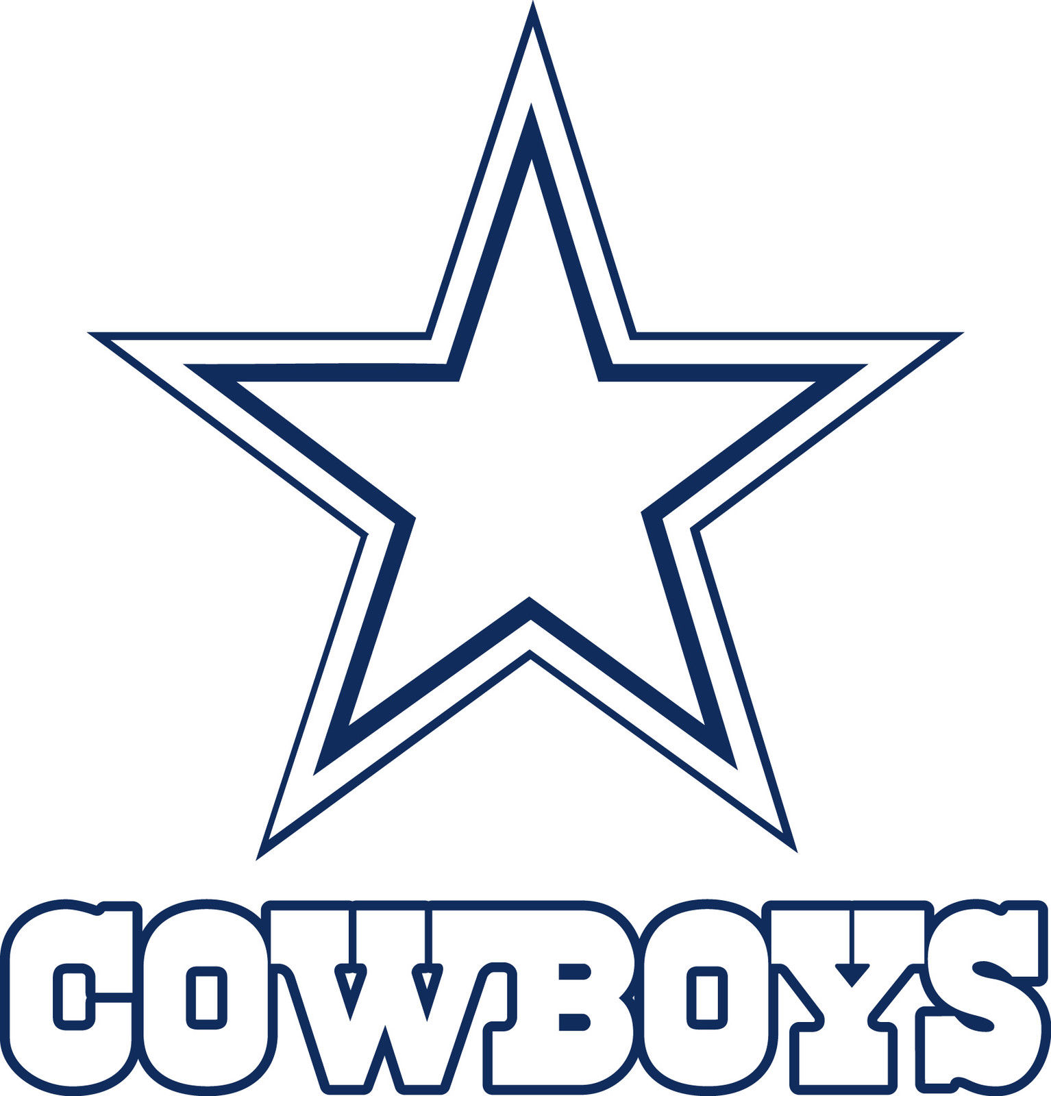 1534x1600 Dallas Cowboys Logo Drawings Dallas Cowboys Star Lo Drawing