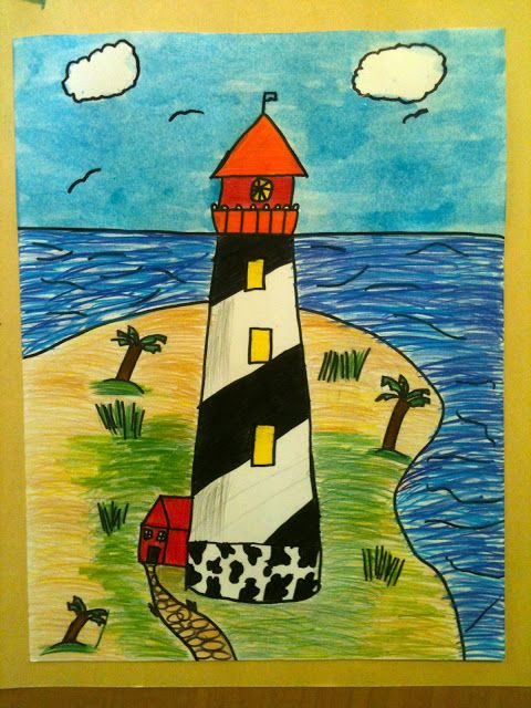 480x640 Lighthouse Lighthouse, Watercolor And Social Studies