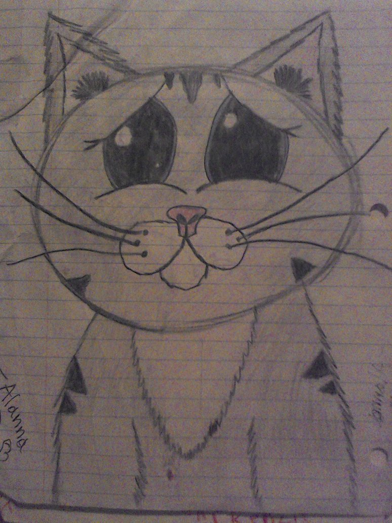 774x1032 Sad Kitty Drawing! (4th Grade) By Scarletgamerartist
