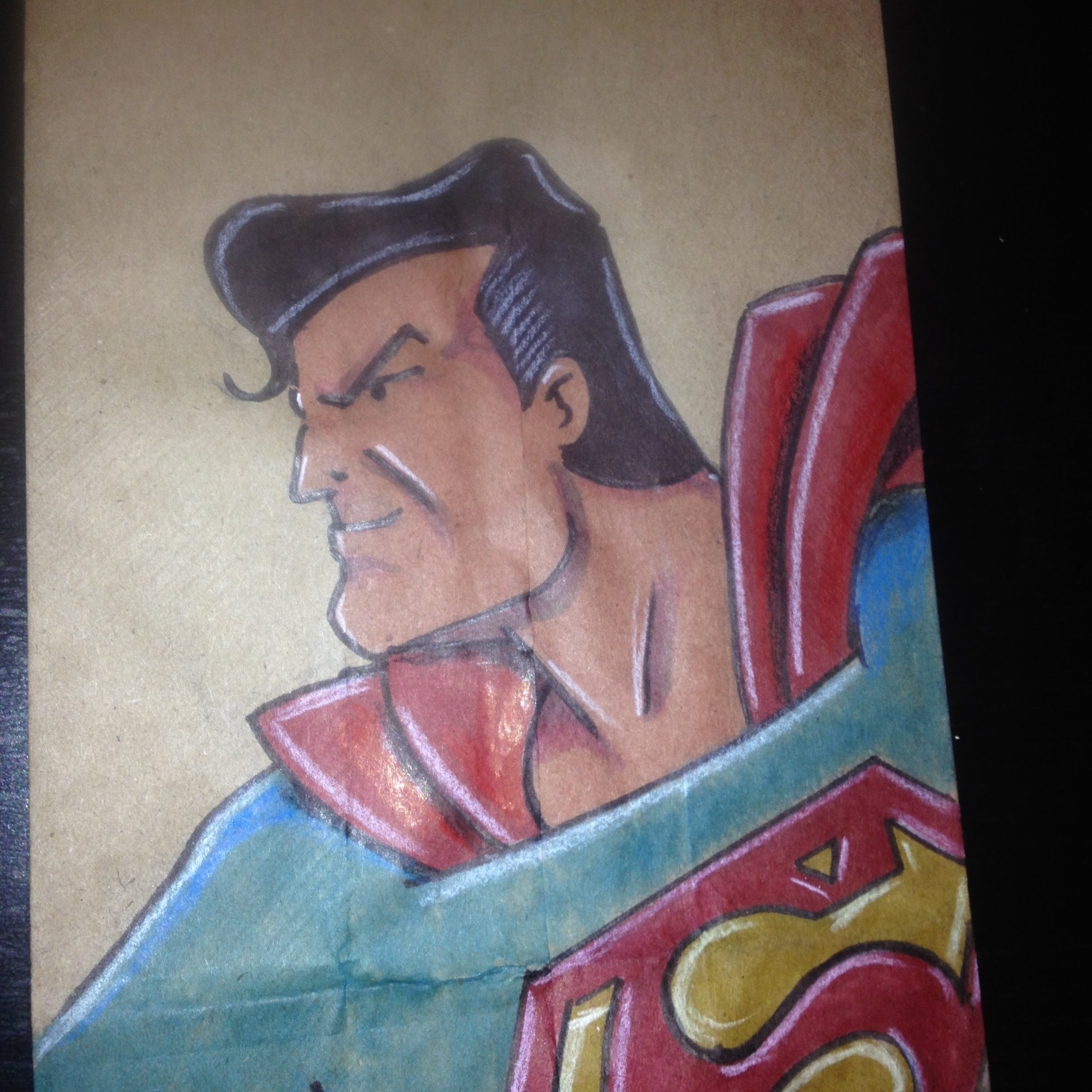 2448x2448 Speed Drawing Superman 4th Grade Lunchbag