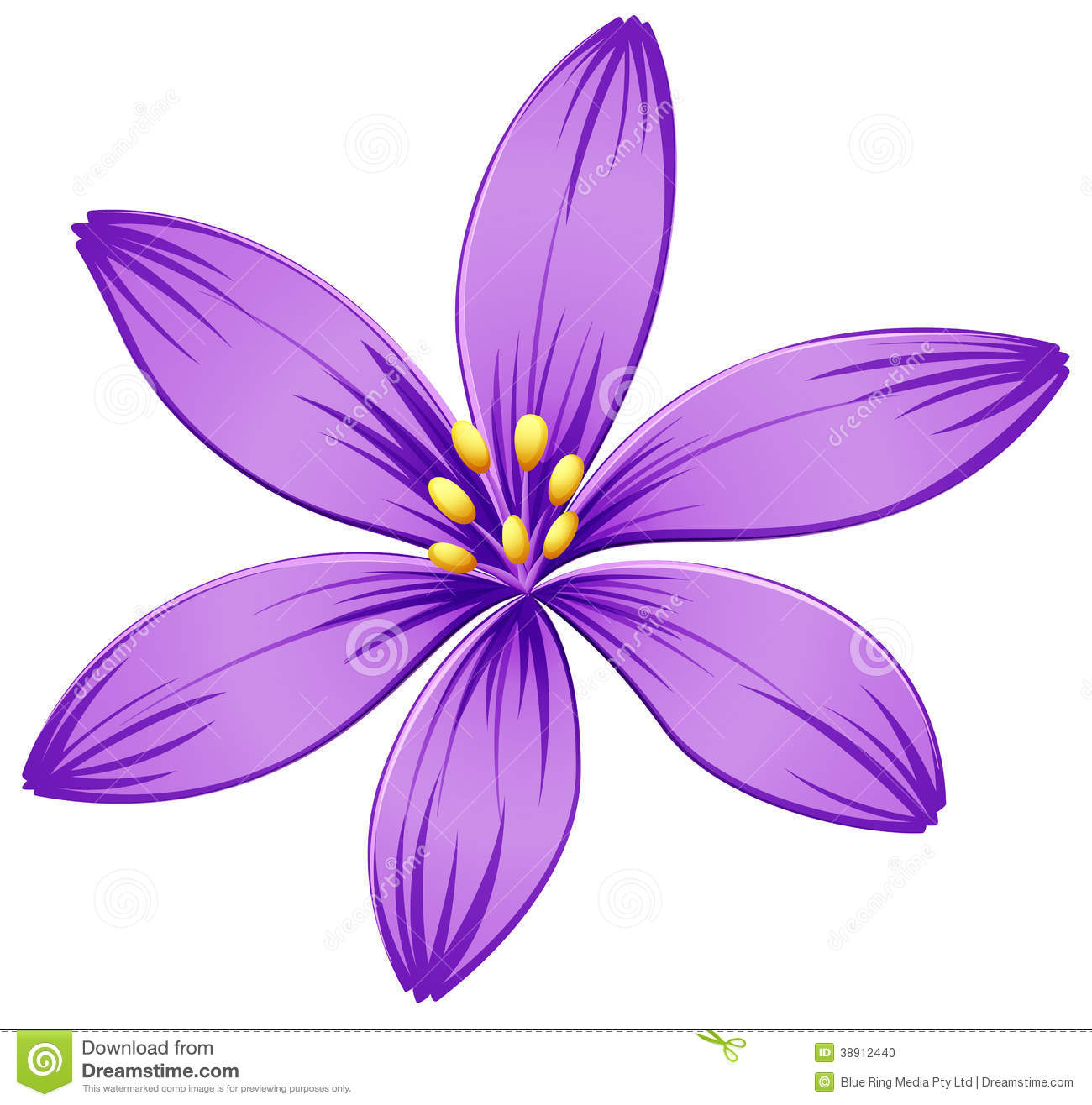 1300x1316 Origami A Five Petal Purple Flower Stock Vector Image