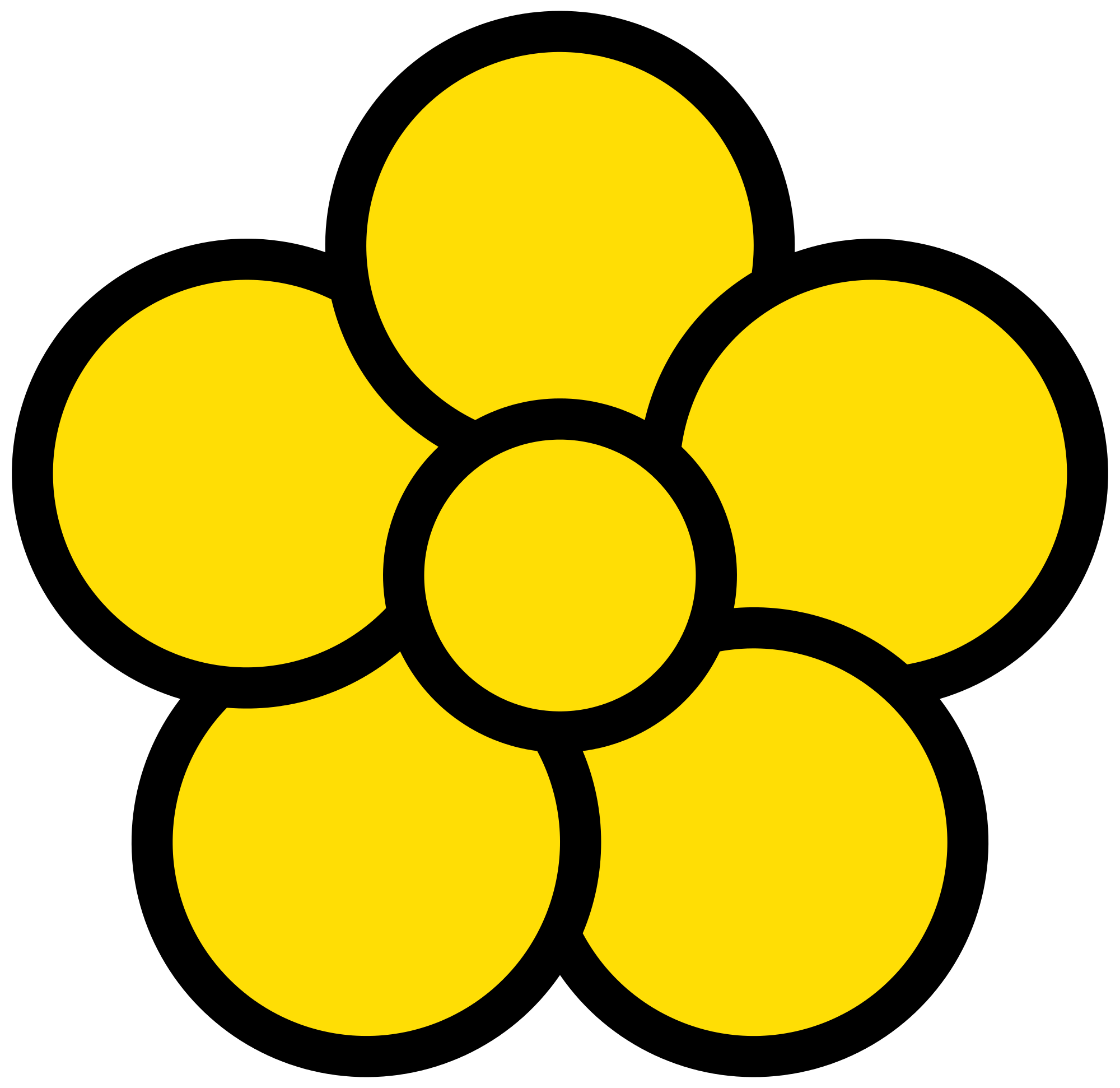 5 Petal Flower Drawing at GetDrawings | Free download