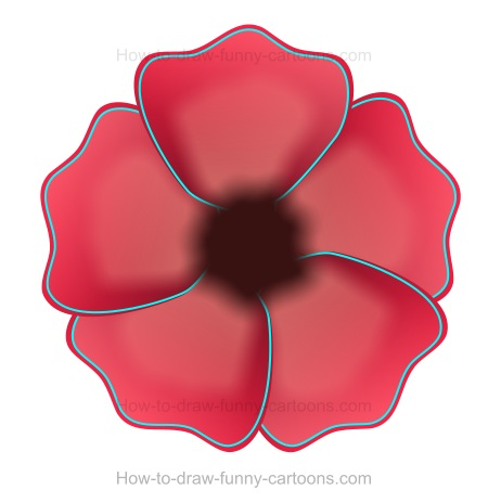 5 petal flower drawing at getdrawings free for personal use 5 450x464 to draw a poppy mightylinksfo