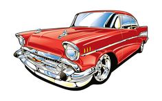 236x147 1957 Chevy Belair Automotion Cartoons Cars Toons