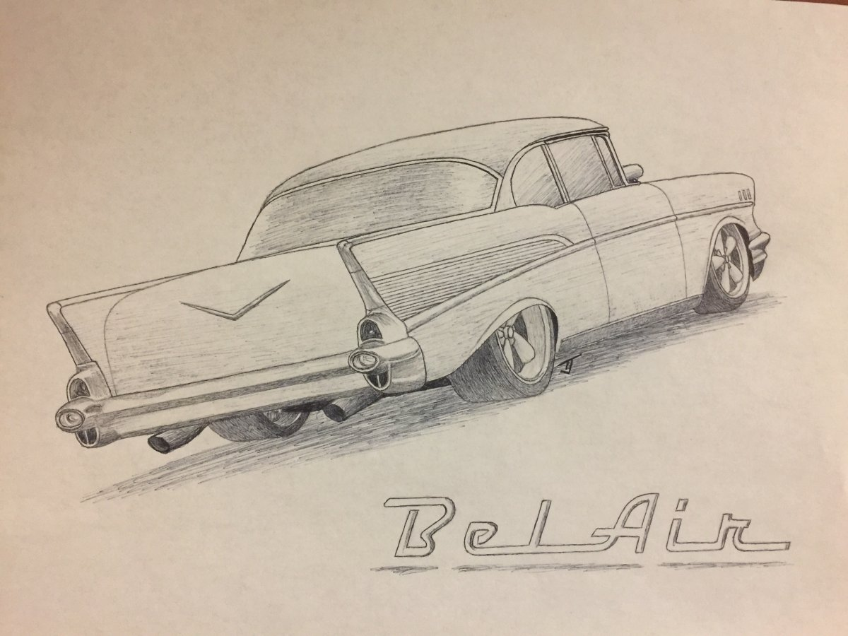 57 Chevy Drawing At Free For Personal Use 1957 Truck Paint Colors 1200x900