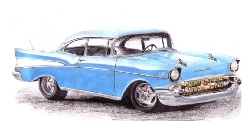 800x400 57 Chevy Bel Air Hard Top By Lindseytaylor