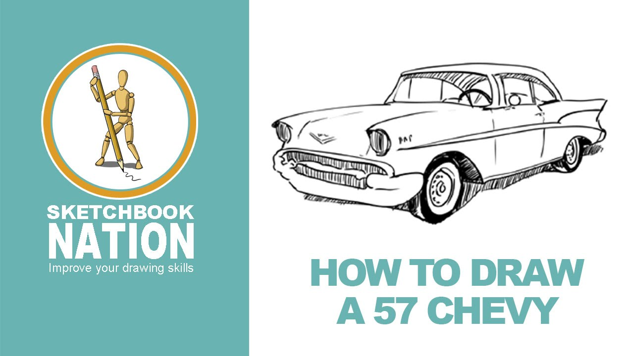 1280x720 How To Draw A 57 Chevy