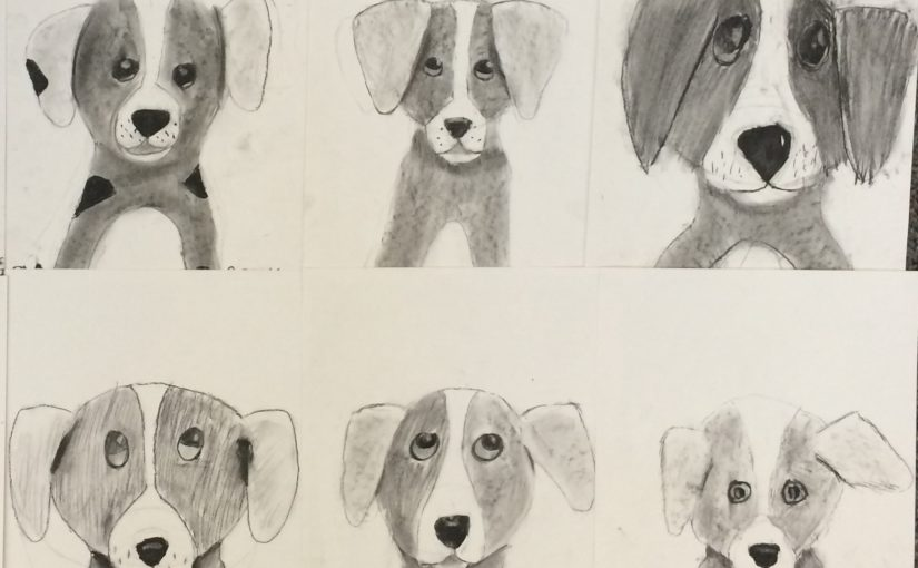 825x510 Charcoal Drawing 5th Grade Puppies