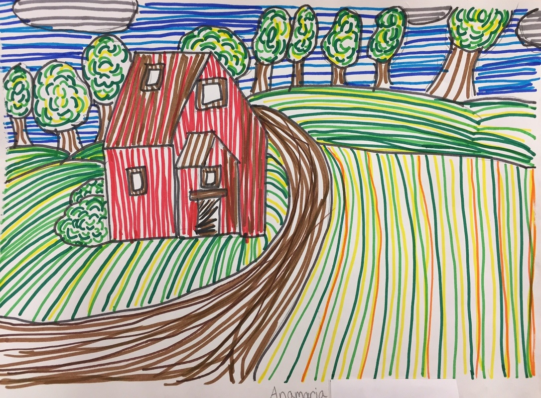 1086x800 Fifth Grade Rural Landscape Drawings