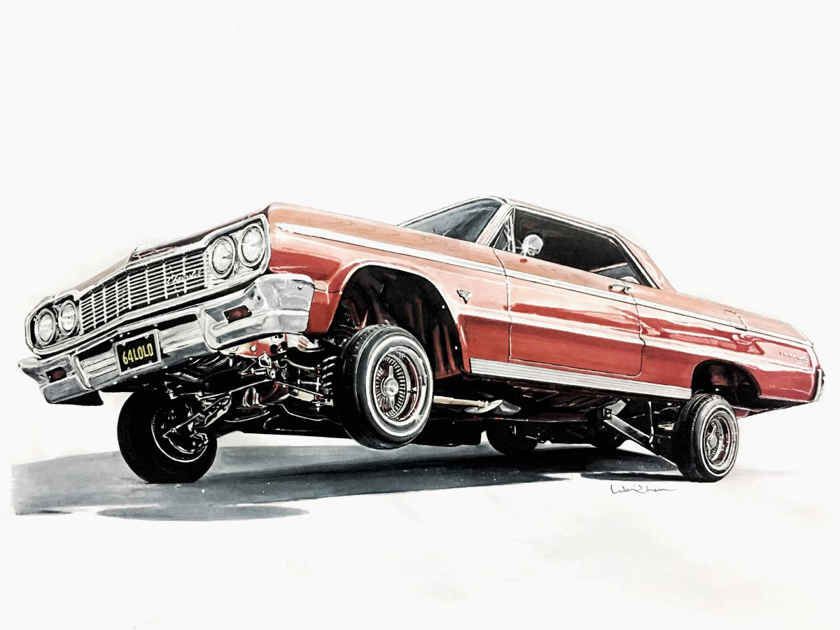 64 Impala Drawing At Free For Personal Use 1962 Chevy Wiring Diagram Manual Reprint Ss Bel Air Biscayne 1200x900 Lowrider