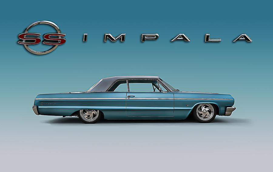 900x567 64 Impala Ss Digital Art By Douglas Pittman