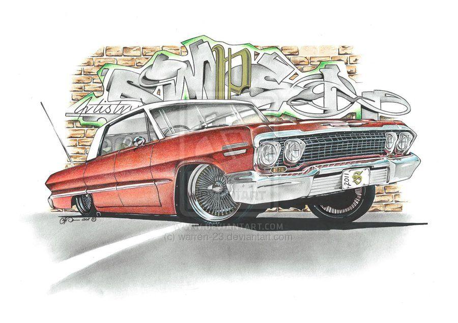 900x636 Chevy Impala By Simpsonartistry On Art Work