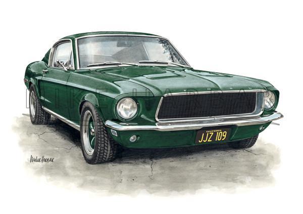 600x424 Ford Mustang 1967 68 Fast Back Amp Bullitt Classic Lines Artist