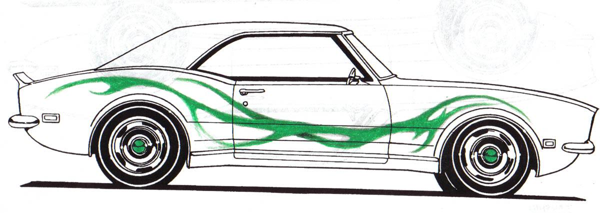 68 Camaro Drawing at GetDrawings.com | Free for personal ...