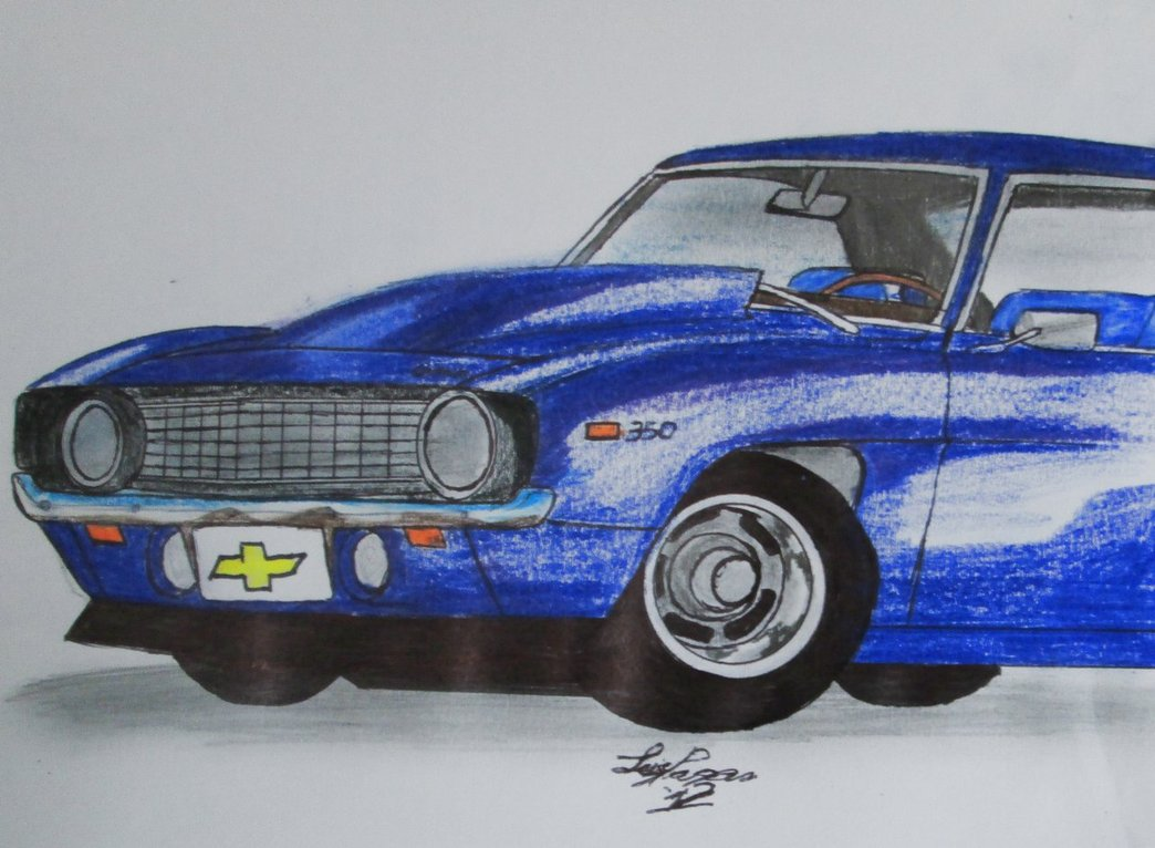 1044x766 69' Camaro Drawing By Mister Lou