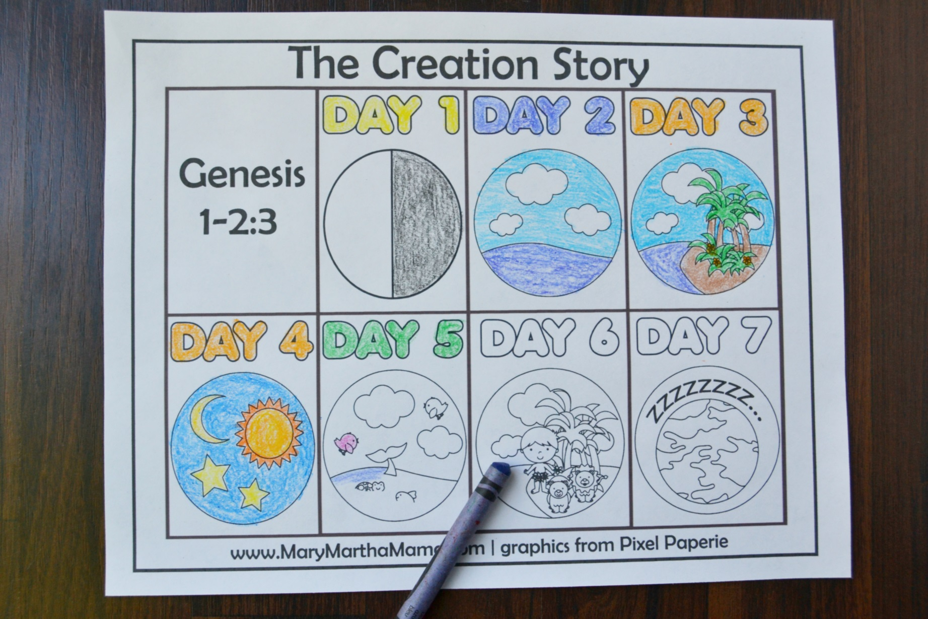 7 Days Of Creation Drawing at GetDrawings.com | Free for personal ...